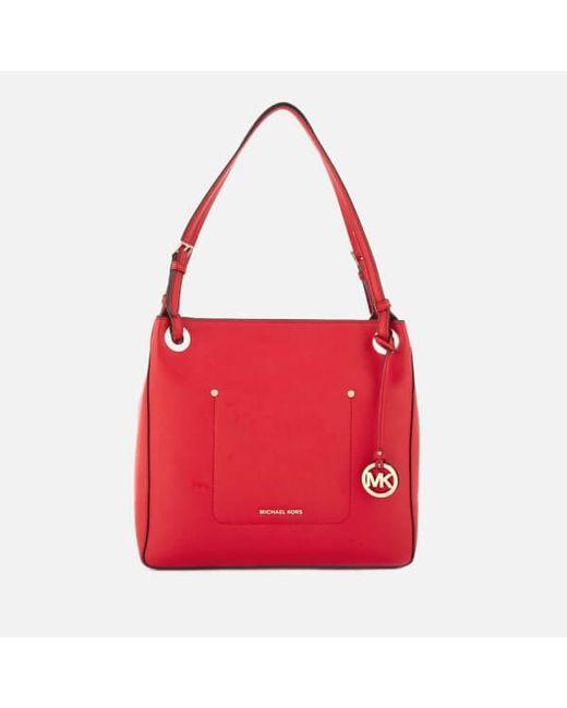 MICHAEL Michael Kors | Red Walsh Medium Shoulder Tote Bag | Lyst