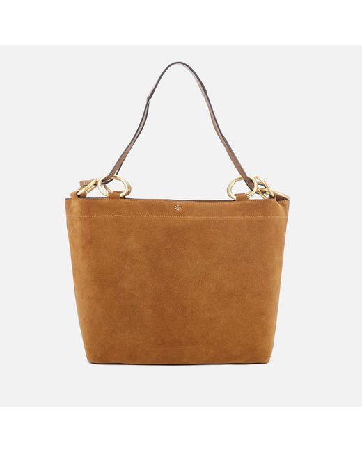 Tory Burch - Brown Farrah Tote Bag - Lyst