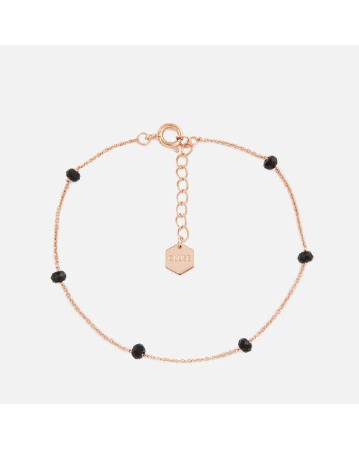 Cluse - Multicolor Essentielle Black Crystals Chain Bracelet - Lyst