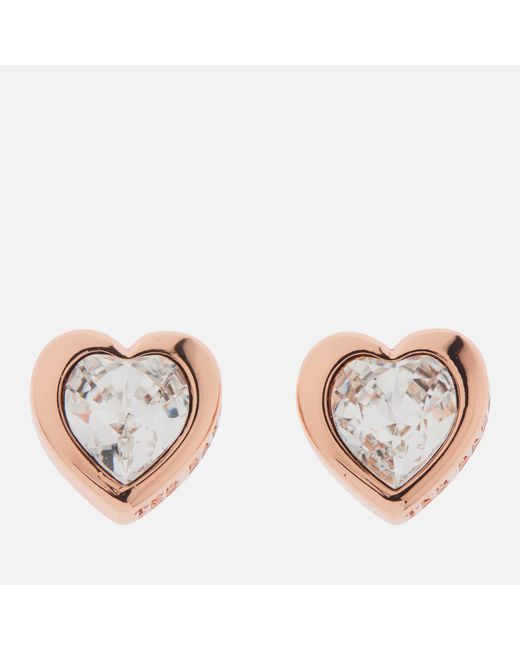 Ted Baker - Multicolor Han: Swarovski Crystal Heart Earrings - Lyst