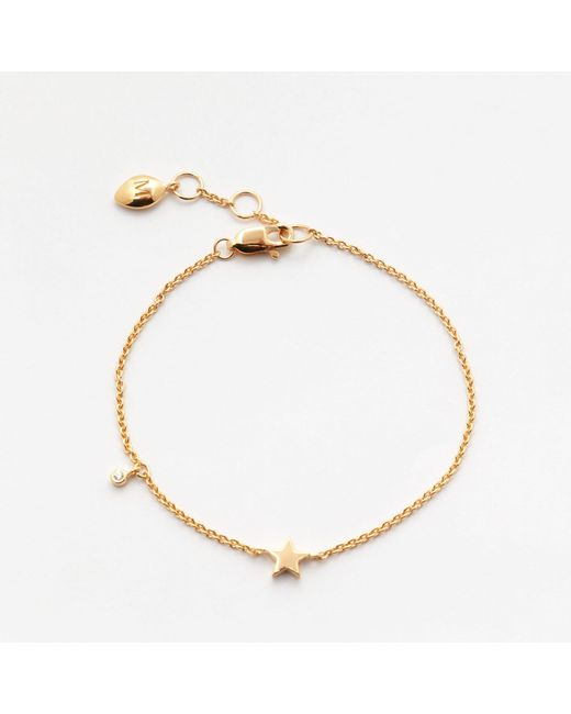Missoma - Metallic Gold Star Bracelet - Lyst