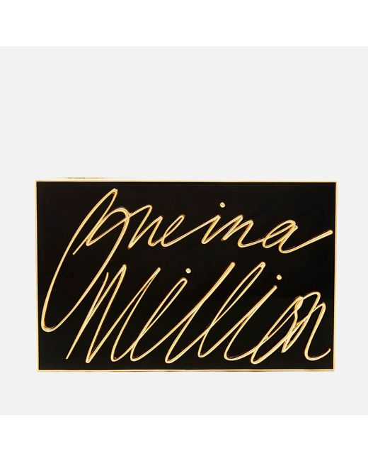 Lulu Guinness - Black Olivia 'one In A Million' Clutch - Lyst