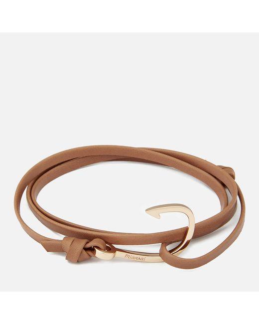 Miansai - Multicolor Leather Bracelet With Rose Hook for Men - Lyst