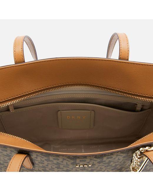 DKNY Brown Bryant Park Medium Tote Bag