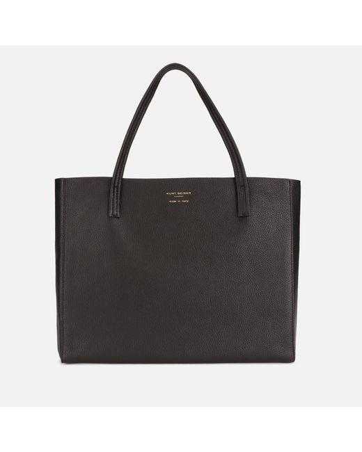Kurt Geiger Black Violet Horizontal Tote Bag