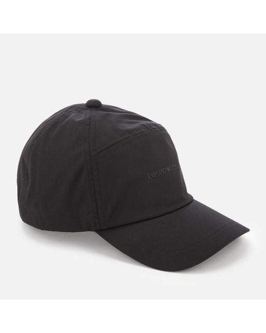 4d8ca2969ad59 Lyst - Emporio Armani Men s Logo Baseball Cap in Black for Men ...