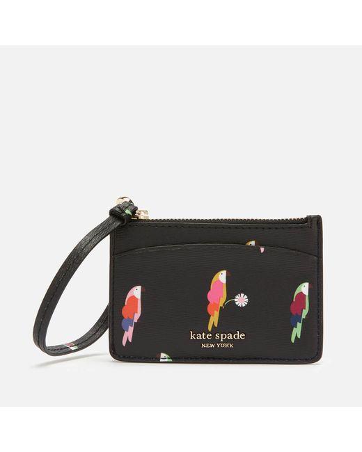 Kate Spade Black Sylvia Leather Wristlet Card Holder