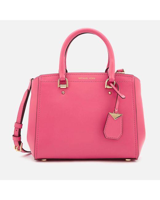 18396af855f MICHAEL Michael Kors - Pink Benning Medium Messenger - Lyst ...