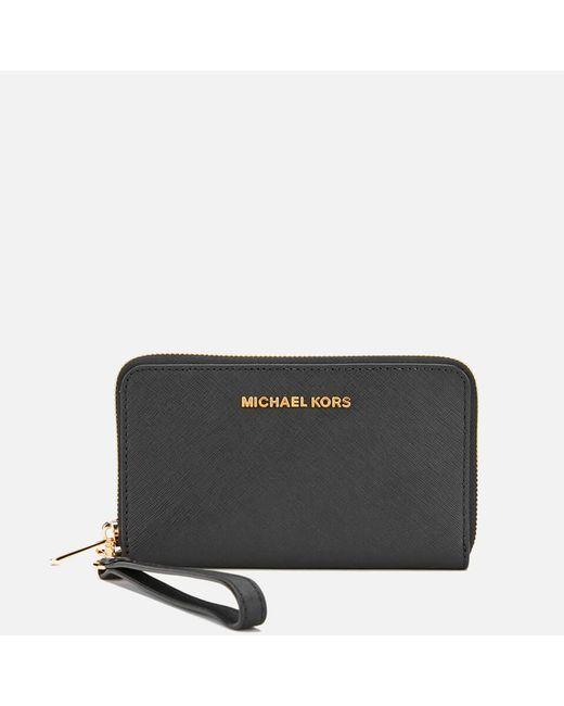 MICHAEL Michael Kors - Black Jet Set Travel Phone Purse - Lyst