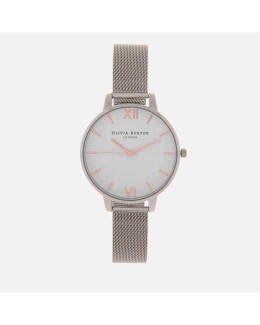 Olivia Burton - White Dial Big Dial Watch - Lyst