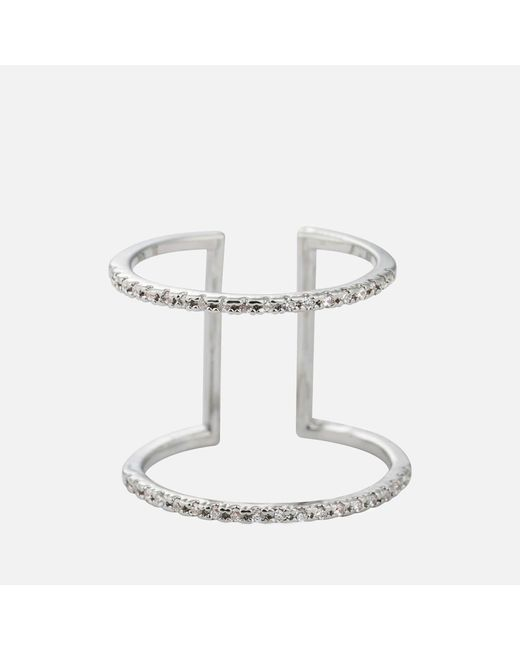 Astrid & Miyu - White Double Bewitched Ring - Lyst