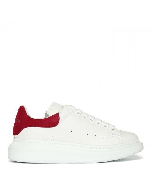 Alexander McQueen White Oversized Leather Sneakers