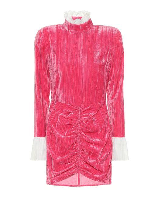 Vestido corto Miki de terciopelo ROTATE BIRGER CHRISTENSEN de color Pink