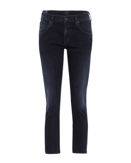 Citizens of Humanity - Blue Mid-Rise Jeans Elsa - Lyst