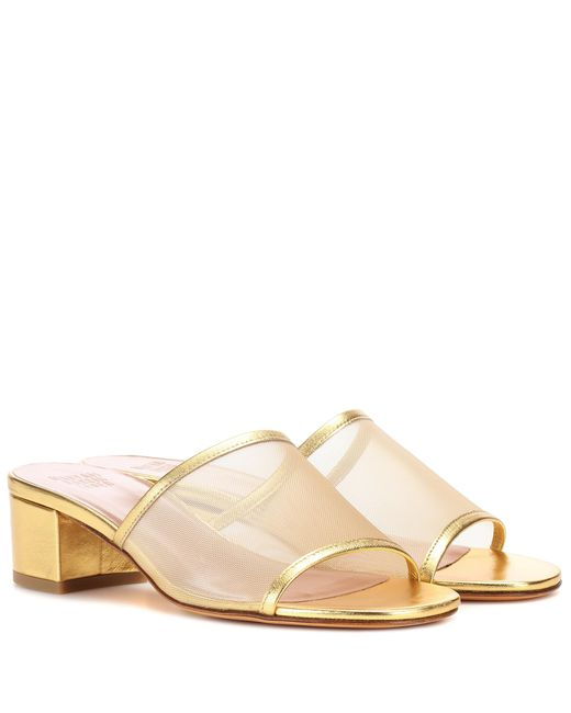 Maryam Nassir Zadeh - Metallic Sophie Mesh Leather Sandals - Lyst