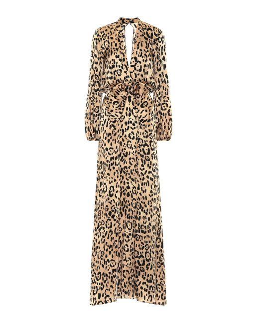 Temperley London Multicolor Robe Piera aus Seidensatin