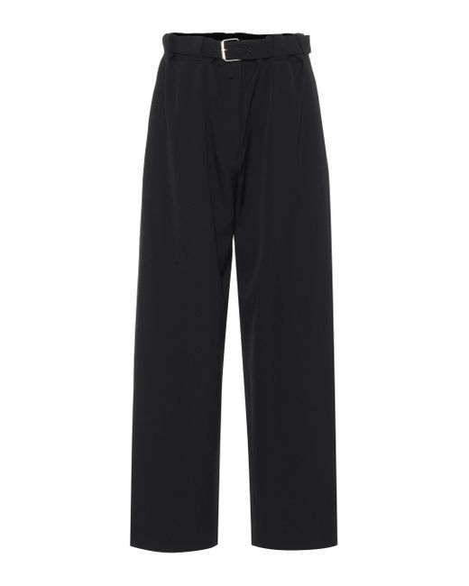 The Row Black Nerea High-rise Wide-leg Wool Pants