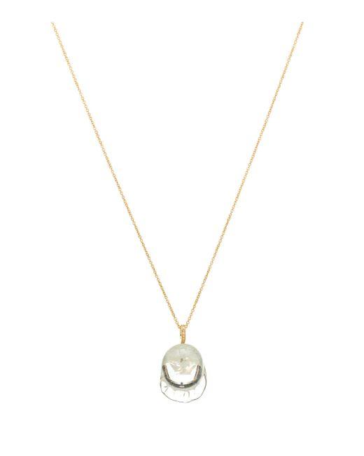 Sophie Bille Brahe Metallic Verre Simple Diamant 14-kt Yellow Gold Necklace With Diamonds