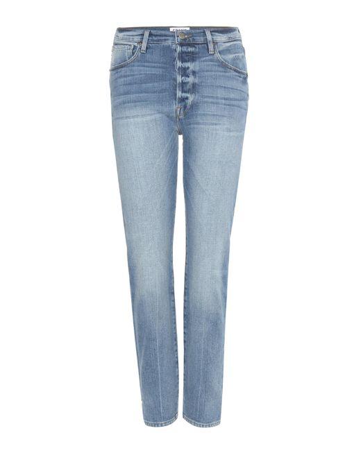 FRAME - Blue Cropped Jeans Le Original aus Baumwoll-Denim - Lyst