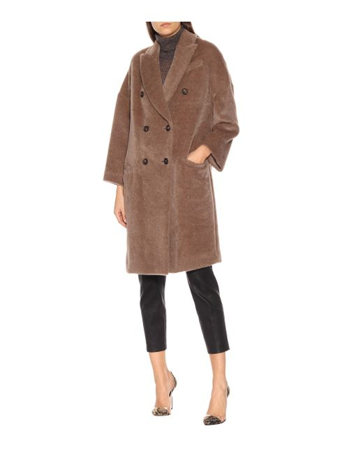 Brunello Cucinelli Brown Alpaca And Wool Coat