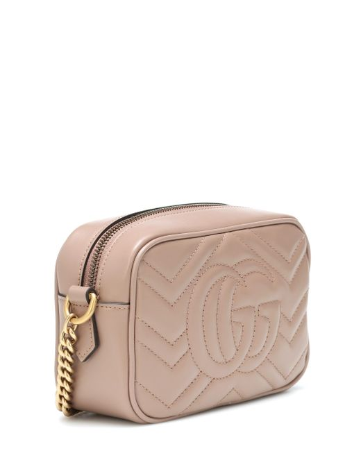 Gucci Multicolor Women's Porcelain Rose Pink Marmont Leather Shoulder Bag