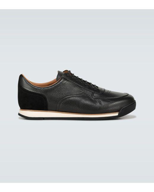 John Lobb Black Porth Leather Sneakers for men