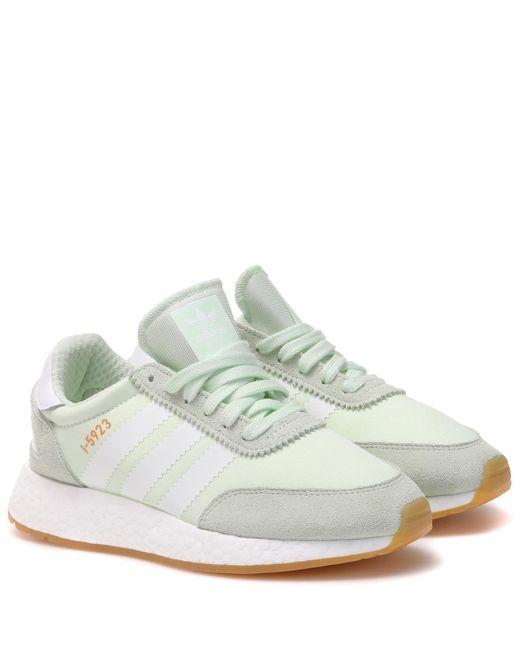 Adidas Originals Green I-5923 Suede Trim Sneakers