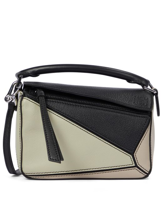 Loewe Black Paula's Ibiza Puzzle Mini Leather Shoulder Bag