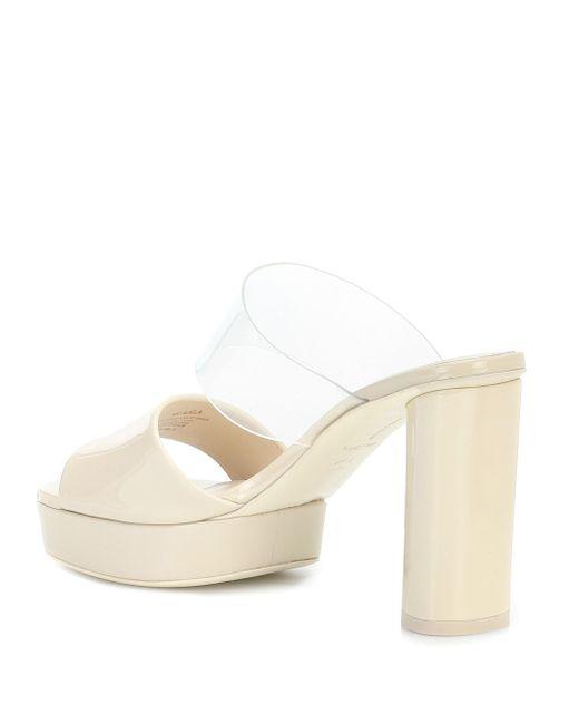 MERCEDES CASTILLO White Sandalen Adela aus Lackleder