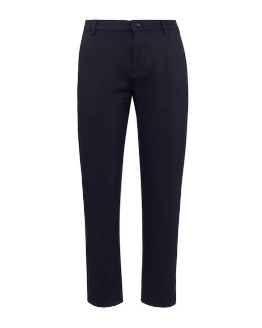 7 For All Mankind Blue Travel Stretch-knit Straight Pants