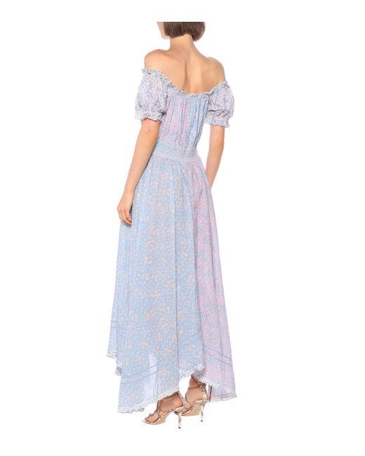 LoveShackFancy Pink Kleid Ren aus Baumwolle