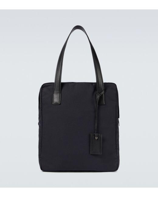 The Row Black Large Travel Nylon Tote Bag for men