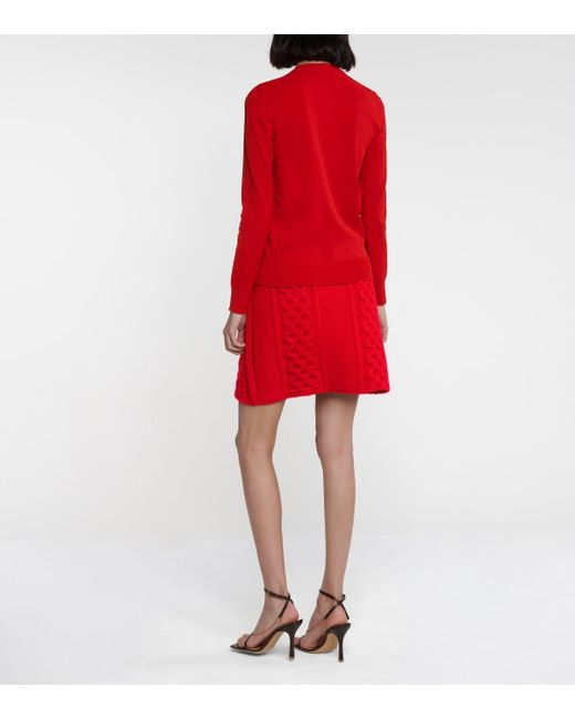 Bottega Veneta Red Pullover aus Strick