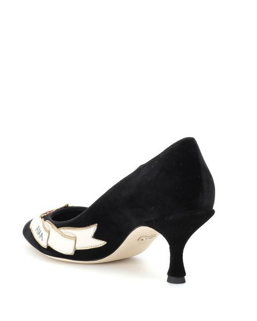 Decolletes decoltè scarpe donna con tacco lori di Dolce & Gabbana in Black