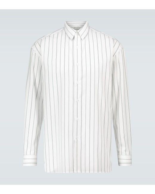 Éditions MR Gestreiftes Hemd Montaigne in White für Herren