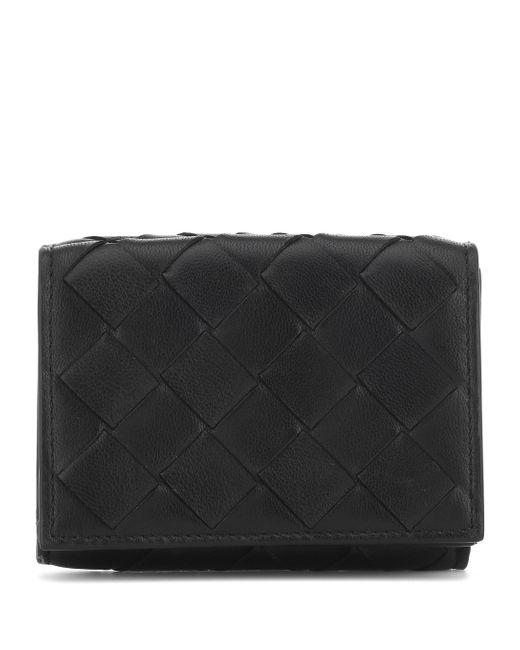 Bottega Veneta Black Intrecciato Leather Wallet