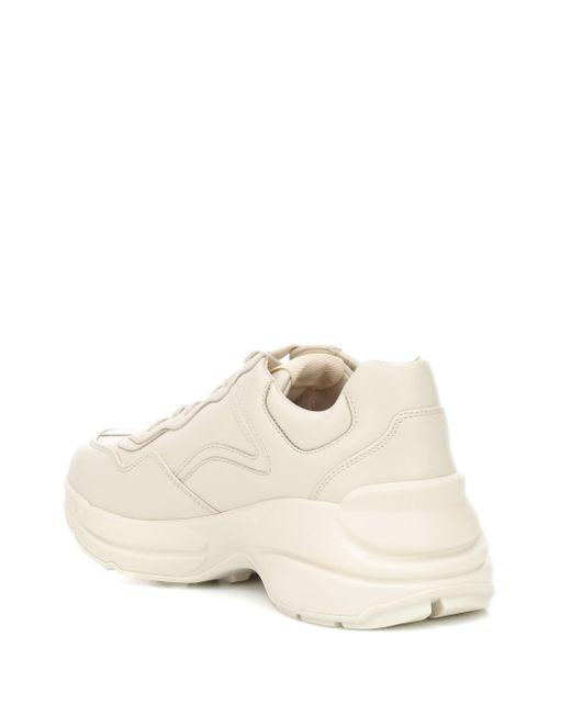 Gucci Rhyton Sneakers Aus Leder Mit Logoprint in White für Herren