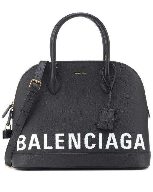 Balenciaga - Black Ville M Leather Tote - Lyst