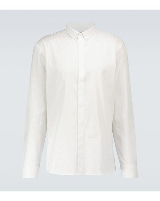 Camisa de algodón con monograma Balmain de hombre de color White