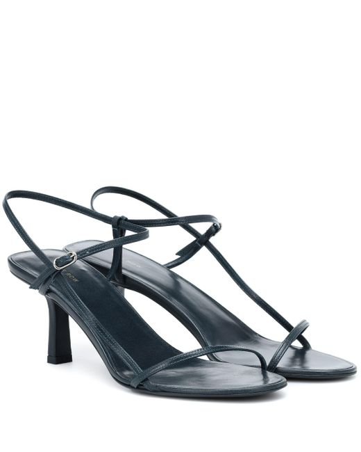 The Row Blue Bare Leather Sandals