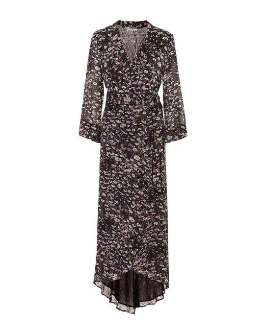 Ganni Black Wickelkleid aus Georgette