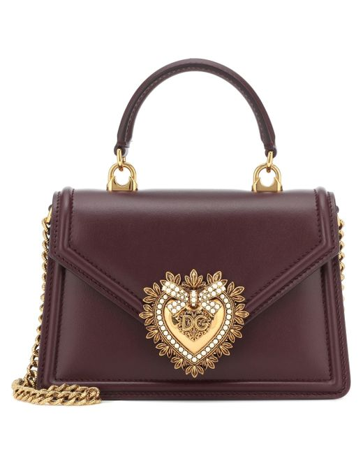 Dolce & Gabbana Red Devotion Small Shoulder Bag