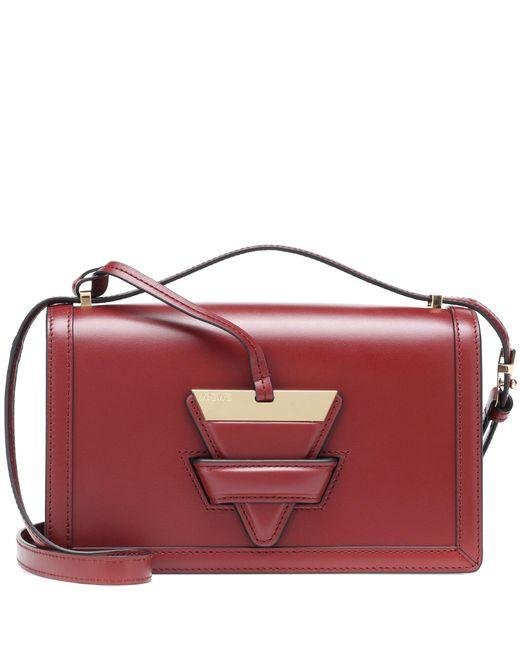 Loewe - Red Barcelona Leather Shoulder Bag - Lyst