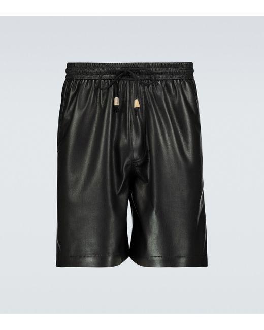 Nanushka Shorts Doxxi aus Lederimitat in Black für Herren