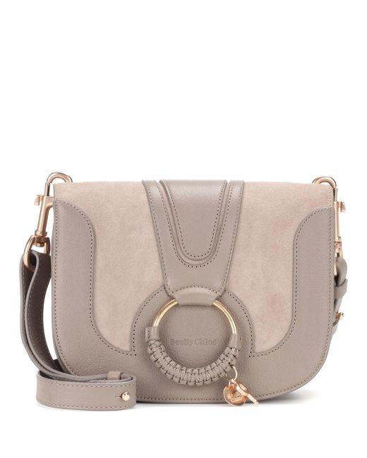 See By Chloé Gray Hana Medium Leather Shoulder Bag