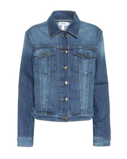 FRAME Blue Jeansjacke Le Vintage