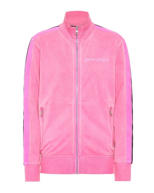 Felpa sportiva in jersey tecnico di Palm Angels in Pink