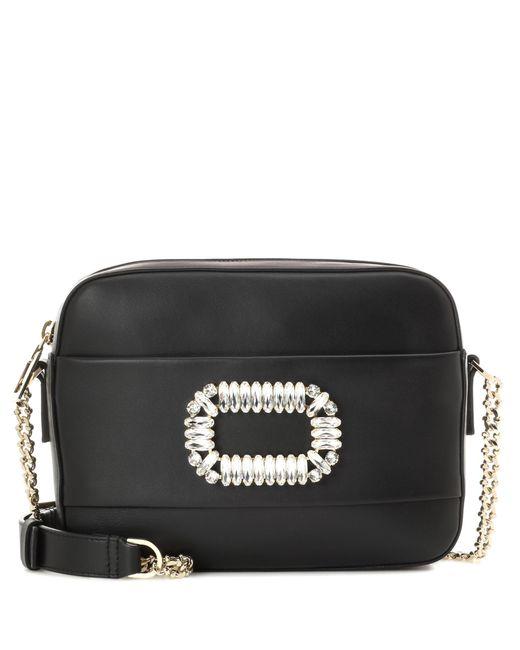 Roger Vivier   Black Photocall Leather Shoulder Bag   Lyst