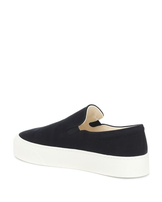 Baskets slip-on Mary en toile The Row en coloris Black