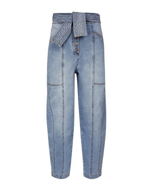 Ulla Johnson Blue Otto High-rise Straight Jeans